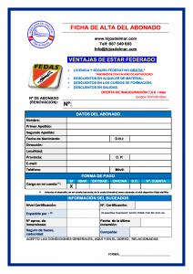FICHA DE AFILIADOS DATOS formulario